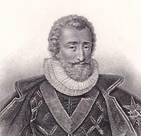 Portrait XIXe Portrait Henri IV Henri Le Grand Bourbon Marie de Médicis