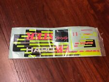 HARO RETRO REPOP 1987 FREESTYLE MASTER FRAME STICKER SET YELLOW BLACK TEAM DECAL