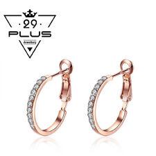 Stunning Fashion 18K Rose Gold GP Hoop Earings With SWAROVSKI Crystal Jewellery