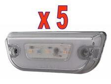 GLO CAB LIGHTS (11 LED) For KENWORTH T680 & PETERBILT 579 (AMBER/CLEAR) 5 Each