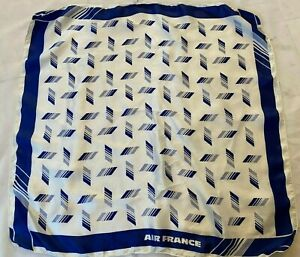 Air France Acetate Scarf Airlines Crew Stewardess Flight Attendant Cabin