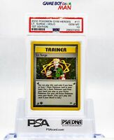 *PSA 10* GEM MINT Lt. Surge HOLO 1ST EDITION 2000 Pokemon Gym Heroes 17/132 WOTC