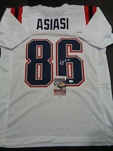 Devin Asiasi New England Patriots Autographed Custom Style Jersey COA-JSA-