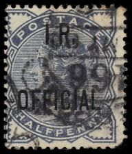 "Great Britain O3 (Sg O5) - Queen Victoria ""I.R. Official"" 1885 Printing (pa60582"