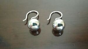 Erick,s Sterling Silver 8 mm Bead Hook Earrings Taxco.925