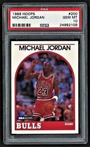 1989 HOOPS MICHAEL JORDAN #200 CHICAGO BULLS HOF ***PSA 10 GEM MINT***