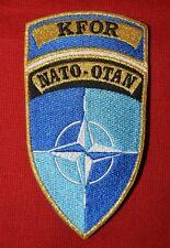 Insigne militaire patch tissu armée écusson brodé KAFOR NATO-OTAN French Army