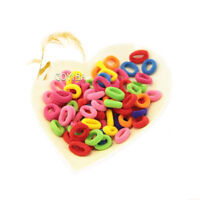 80 PCS Candy Color Elastic Rope Hair Ring Tie Band Kid Baby Girl Ponytail Holder