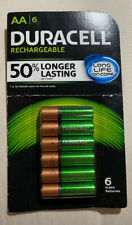 duracell rechargeable batteries 6 AA NiMH New