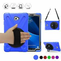 "For Samsung Galaxy Tab A 10.1"" T580/T585 Heavy Duty Protective Cover Strap Case"