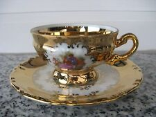 TASSE MOKA  PORCELAINE  COUPLE FRAGONARD. + DORURES