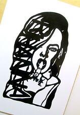 "RIHANNA,Original Pop Art,Music Celebrities, 5""X8"" Black Vinyl Portrait Sticker."