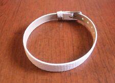 bracelet simili cuir blanc 20,8 cm