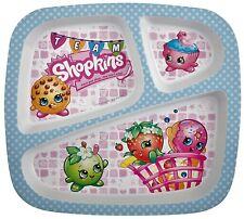 SHOPKINS 3 DISH EATING PLATE, Toddler, Kids DINNER LUNCH BREAKFAST New + unused