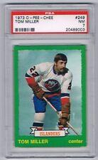 1973-74 O-Pee-Chee Hockey Card New York Islanders #249 Tom Miller Graded PSA 7