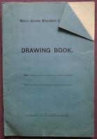 Vintage Original Family Photograph Album in Devon School Drawing Book,  c1930s