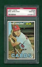 1967 TOPPS #304 PHIL GAGLINAO ST. LOUIS CARDS PSA 10 GEM MINT CENTERED