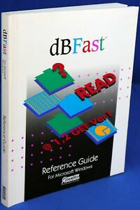 Computer Associates dBFast Reference Guide for Microsoft Windows 1992