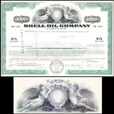 Shell Oil Company 1970 Stock Bond Certificate