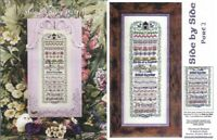 Side By Side Part I & Part II Counted Cross Stitch Charts Patterns Just Nan