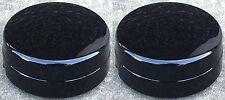 "03-16 DODGE RAM 3500 Dually 1-ton REAR BLACK Center Hub Caps for 17"" Wheels PAIR"