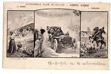 c002915  BELTRAME AUTOMOBILE CLUB MILANO COPPA D'ORO Vg  PER  LA  SVIZZERA 1912
