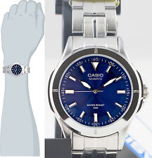 Casio MTP1214A-2AV Men's Blue Stainless Steel Band Watch Analog New