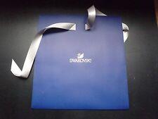 Logotipo de Cristal Swarovski Original Azul Nuevo Bolsa De Regalo con Cinta de Plata 30x32x14cm