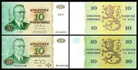 Finlandia - 2x 10, 10 Markkaa - Edición 1980 & 1980 Litt. A - Reproducción 04