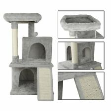 New listing 36� Cat Tree Tower w/ Scratching Posts Dangling Ball Two Condo Ramp for Kittens