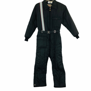 Vintage Walls Blizzard-Pruf Quilted Insulated Coveralls Mens 2XL-Tall Black USA