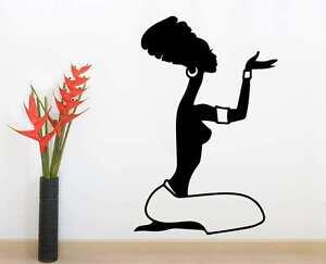 African Woman Silhouette Wall Art Vinyl Decal Sticker Mural Gift Home Decor
