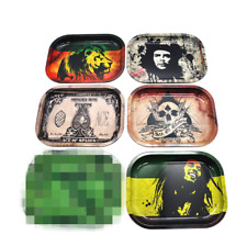 Tinplate Cigarette Rolling Tray Metal Plate Tray Smoking Holder Tobacco Access