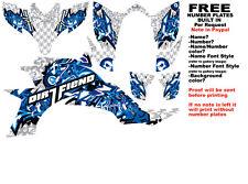 DFR BOMBER GRAPHIC KIT WHITE/BLUE  SIDES/FENDERS YAMAHA YFZ450 YFZ 450