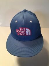 Trucker Hat,The North Face with logo, Blue with white & pink on front, Fitted