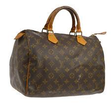 AUTHENTIC LOUIS VUITTON SPEEDY 30 HAND BAG MONOGRAM CANVAS PURSE M41526 S07719