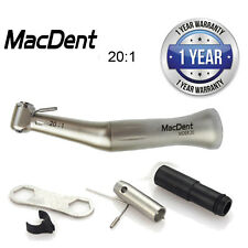 100% MacDent Dental Implant 20:1 Reduction Low Speed Contra Angle Handpiece CE