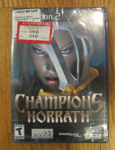 Champions of Norrath - Black Label (Sony PlayStation 2, 2004) New Factory Sealed