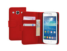 Wallet RED Leather Case Cover for Samsung Galaxy Core Plus SM-G350 / G3502