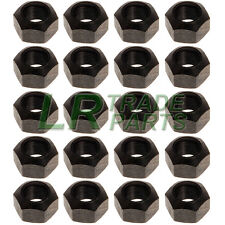 LAND ROVER DEFENDER & DISCOVERY 1 STEEL WHEEL NUT SET X20 BLACK NUTS - RRD500010