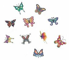 LOT OF 10 - ALL DIFFERENT BUTTERFLIES Temporary Tattoo