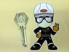 MOTO GUZZI PUDDING BASIN Helmet Rider 2 finger salute sticker