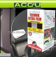 E-Tech 3D Carbon Effect Car Bike Interior Exterior Body Detail Styling Film Roll