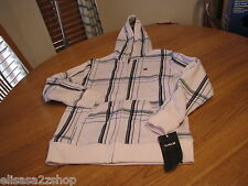 Boys kids youth white Hurley jacket hoodie sweat shirt coat large L NEW surf $48