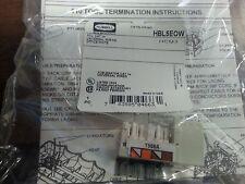 Hubbell HBL5EOW Cat5e jack