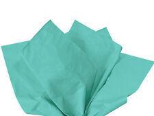 CARRIBEAN TEAL Aqua Tissue Paper Flower Pom Gift Wrap Wrapping 100 sheets 15x20