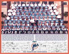 2001 MIAMI DOLPHINS FOOTBALL 8X10 TEAM PHOTO