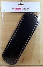 Hoooked Taschenboden `Schwarz/Black ca. 32x10 cm Kunstleder` Neu Tasche