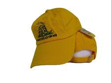 bordado lavado Estilo Gadsden DONT TREAD ON ME té Amarillo gorra