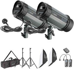 Neewer 600W Studio Strobe Flash Photography Lighting Kit - Photo Video Studio